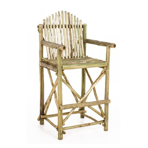 Wooden chair treated poles