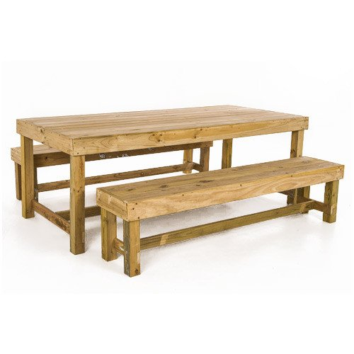 Compact table bench set Pole Yard