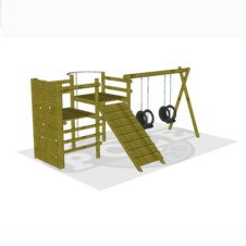 DIY Predesigned Jungle Gyms Kids Jungle Gyms The Pole Yard - Backyard jungle gyms