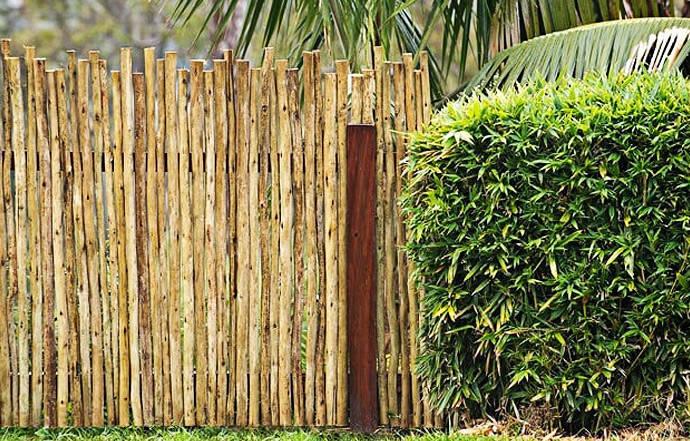 Log Pole Fence ~ Poles jungle gyms garden furniture gum wooden pole