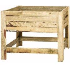Wooden Tan-E Standing Planter box