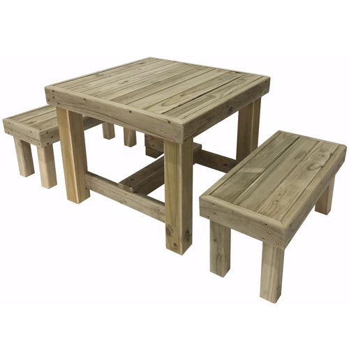 Kids pact Table and Bench set The Pole Yard