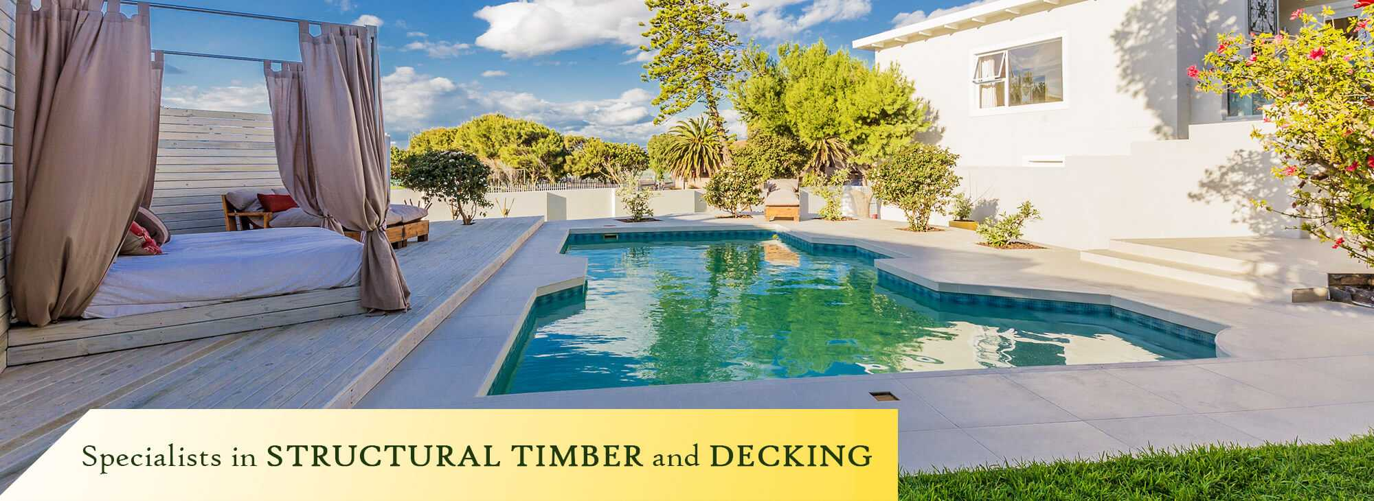 Structural timber and decking available at The Pole Yard