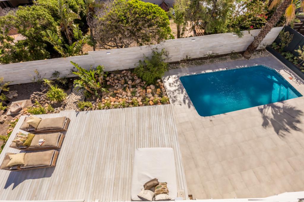 Timber Deck next to pool